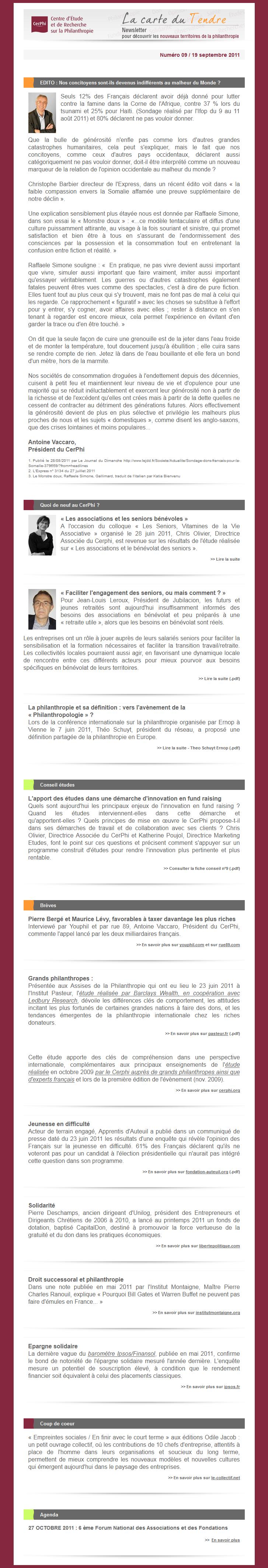 La newsletter du CerPhi N°9