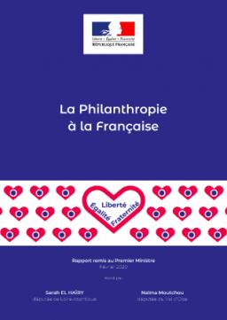 """Couverture Rapport """"La philanthropie à la française"""""""